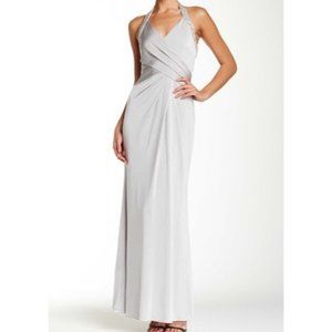 JS Boutique Silver Beaded Gown